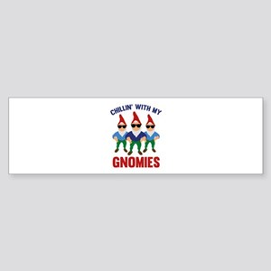 Chillin' With My Gnomies Sticker (Bumper)