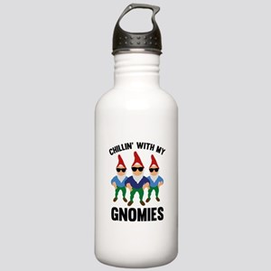 Chillin' With My Gnomies Stainless Water Bottle 1.