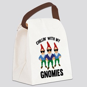 Chillin' With My Gnomies Canvas Lunch Bag