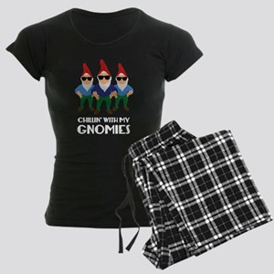 Chillin' With My Gnomies Women's Dark Pajamas