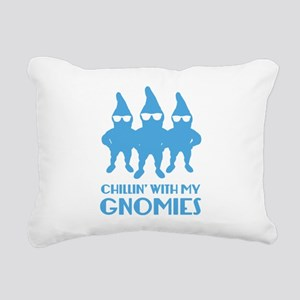 Chillin' With My Gnomies Rectangular Canvas Pillow