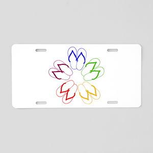 FLIP-FLOP FANATIC Aluminum License Plate