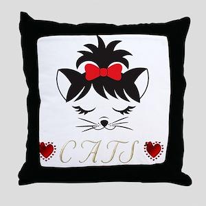 I Love Happy Cats Throw Pillow