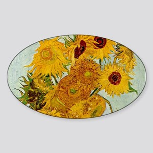 Vincent Van Gogh Sunflower Painting Sticker
