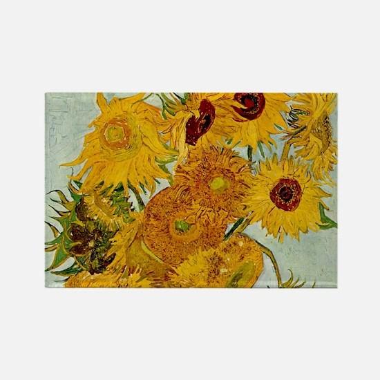 Vincent Van Gogh Sunflower Painting Magnets