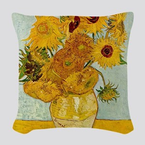 Vincent Van Gogh Sunflower Painting Woven Throw Pi