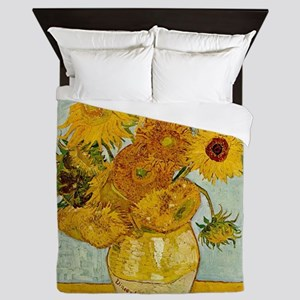 Vincent Van Gogh Sunflower Painting Queen Duvet