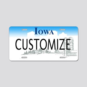 Iowa Custom Aluminum License Plate