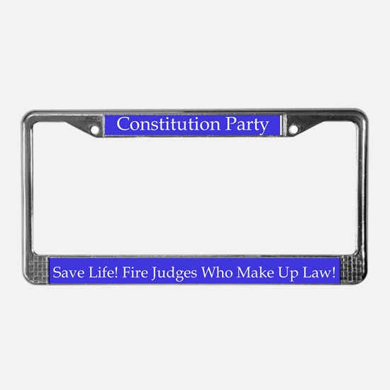 Constitution Party License Plate Frame