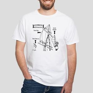 Sailing Cartoon 7511 White T-Shirt
