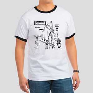 Sailing Cartoon 7511 Ringer T