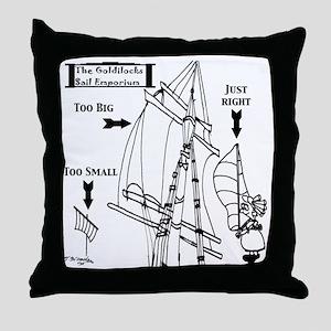 Sailing Cartoon 7511 Throw Pillow