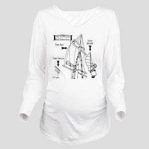Sailing Cartoon 7511 Long Sleeve Maternity T-Shirt
