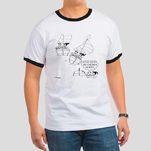 Sailing Cartoon 7510 Ringer T