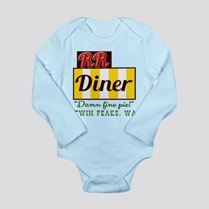 Double RR Diner in Twi Long Sleeve Infant Bodysuit
