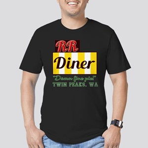 Double RR Diner in Twi Men's Fitted T-Shirt (dark)