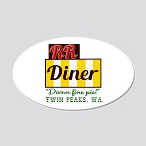 Double RR Diner in Twin Peak 20x12 Oval Wall Decal