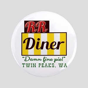"""Double RR Diner in Twin Peaks 3.5"""" Button"""