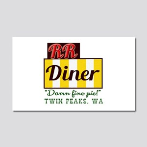 Double RR Diner in Twin Peaks Car Magnet 20 x 12