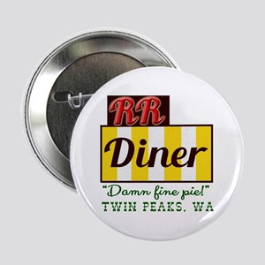 "Double RR Diner in Twin Peaks 2.25"" Button"