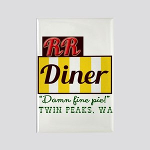 Double RR Diner in Twin Peaks Rectangle Magnet