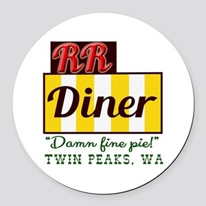 Double RR Diner in Twin Peaks Round Car Magnet