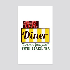 Double RR Diner in Twin Peaks Sticker (Rectangle)