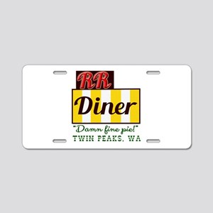 Double RR Diner in Twin Pea Aluminum License Plate