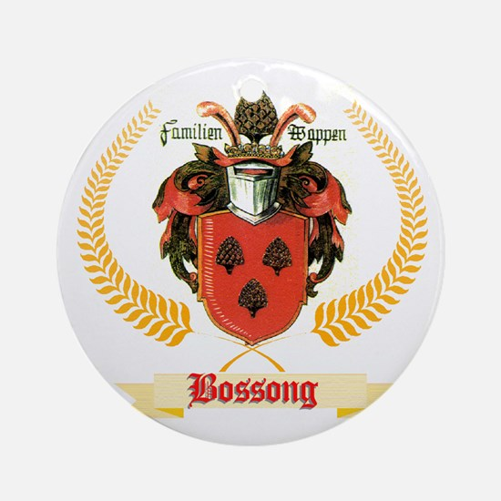 German Bossong Coat of Arms Round Ornament