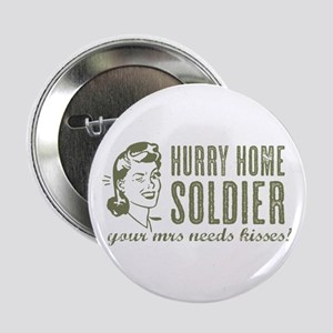 """Hurry Home Soldier 2.25"""" Button (10 pack)"""