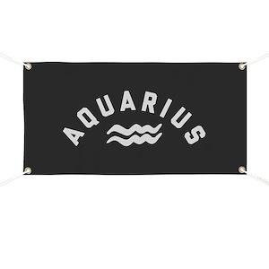 d04d71e712f Aquarius Banners - CafePress