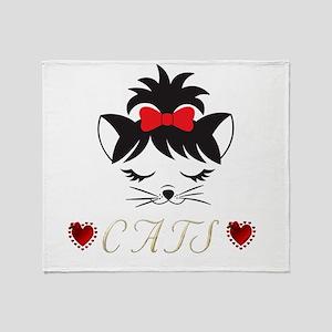 I Love Happy Cats Throw Blanket