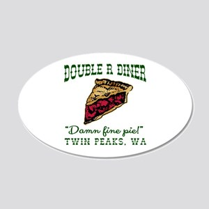 Twin Peaks Cherry Pie Diner 20x12 Oval Wall Decal