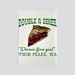 Twin Peaks Cherry Pie Diner Rectangle Magnet