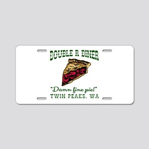 Twin Peaks Cherry Pie Diner Aluminum License Plate