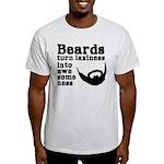 Beards: Laziness Into Awesomeness Light T-Shirt