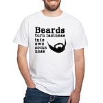 Beards: Laziness Into Awesomeness White T-Shirt