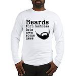 Beards: Laziness Into Awesomen Long Sleeve T-Shirt