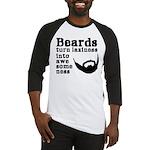 Beards: Laziness Into Awesomeness Baseball Jersey