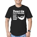 Beards: Laziness Into Men's Fitted T-Shirt (dark)