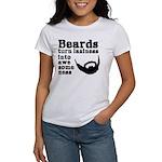 Beards: Laziness Into Awesomeness Women's T-Shirt
