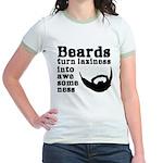 Beards: Laziness Into Awesomene Jr. Ringer T-Shirt