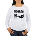 Beards: Laziness Into Women's Long Sleeve T-Shirt