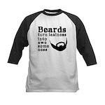 Beards: Laziness Into Awesome Kids Baseball Jersey