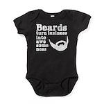 Beards: Laziness Into Awesomeness Baby Bodysuit