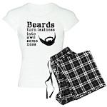 Beards: Laziness Into Aweso Women's Light Pajamas