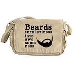Beards: Laziness Into Awesomeness Messenger Bag