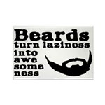 Beards: Laziness Into A Rectangle Magnet (10 pack)