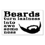Beards: Laziness Into Aw Sticker (Rectangle 10 pk)