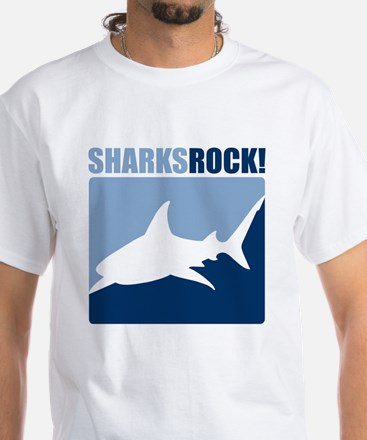 Sharks Rock! White T-Shirt